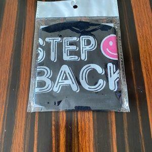Fashion Mask/Black/STEP BACK/NWT/Fun Mask